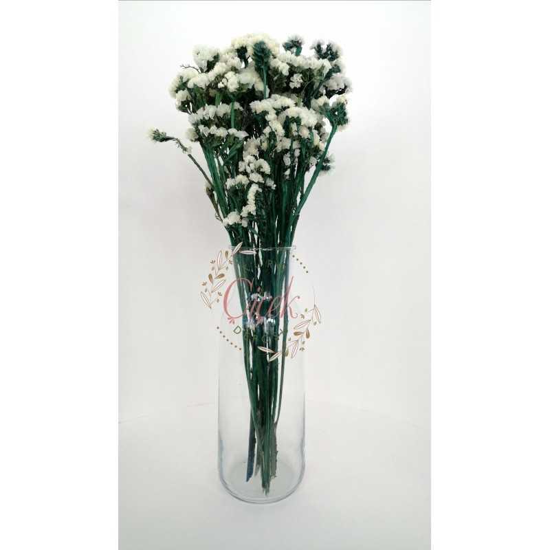 Şoklanmış Beyaz Statis (Yeşil Dallı) - Kuru Çiçek