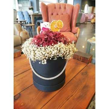 Sevimli Ayıcıklı Kutu Çiçek - svmlayck