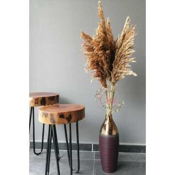 Kuru Çiçek Pampas 7 li Şoklanmış Büyük Demet 100cm (Natural) - PMP08