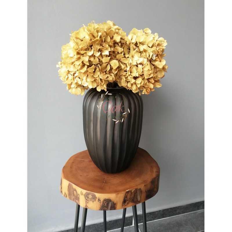 Şoklanmış Solmayan Ortanca Demeti Açık Sarı (4-5 Adet) - Kuru Çiçek - ORTDMT02