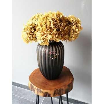 Şoklanmış Solmayan Ortanca Demeti Açık Sarı (4-5 Adet) - Kuru Çiçek